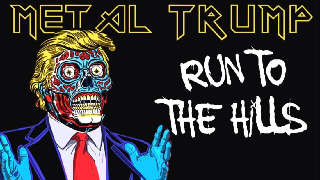 ¡Donald Trump canta Run to the Hills de Iron Maiden!