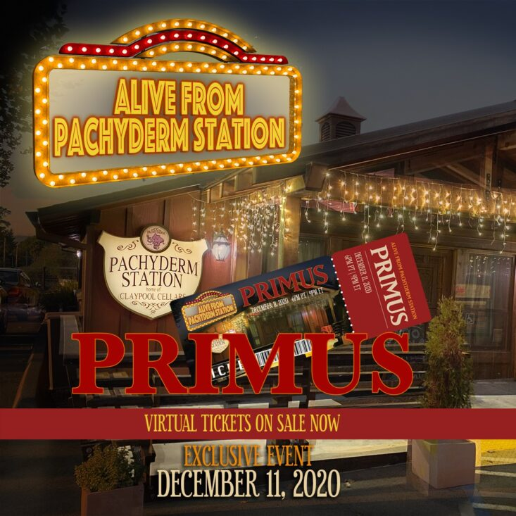 Primus anuncia Alive From Pachyderm Station