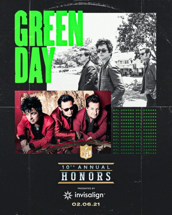 NFL Honors tendrá show de Green Day